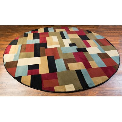 Barclay River Modern Area Rug Rug Size: Round 710