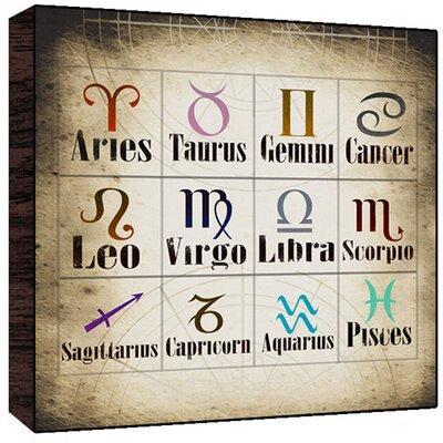 Zodiac Sings Wall Art Size: 36 H x 36 W x 1.5 D image