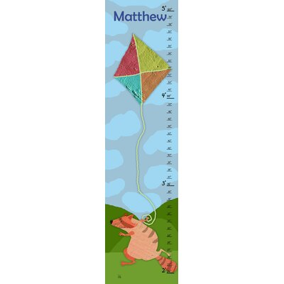 Racoon and Kite Personalized Growth Chart