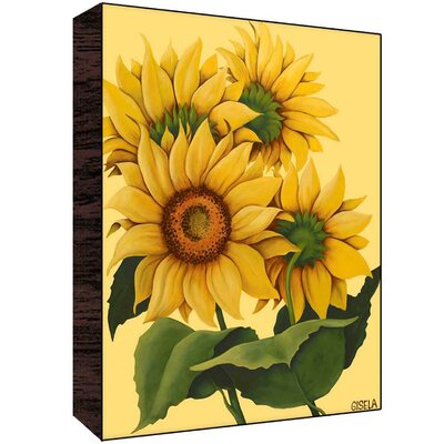 Sunflowers Wall Art Size: 40 H x 30 W x 1.5 D image