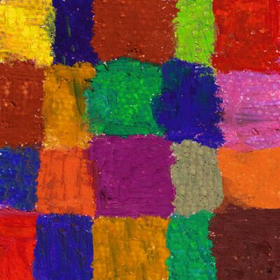 """Colorful Chess 2 Painting Print on Wrapped Canvas Size: 24"""" H x 24"""" W x 1.5"""" D YS430311dC"""