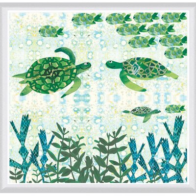 Turtles Framed Painting Print Size: 24