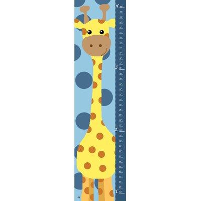 Yellow Giraffe on Blue Background Growth Chart YS720112fCG