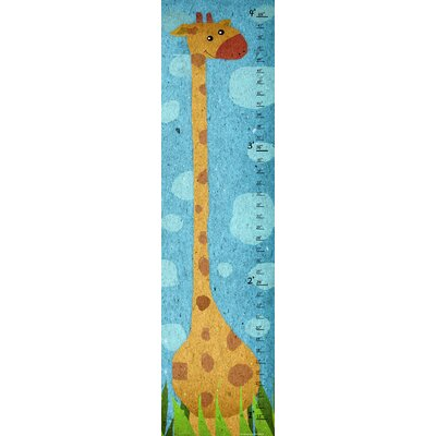 Yellow Giraffe on Background Growth Chart YS170112dCG