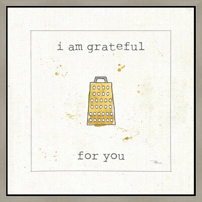 I Am Grateful Framed Graphic Art SW183501aC