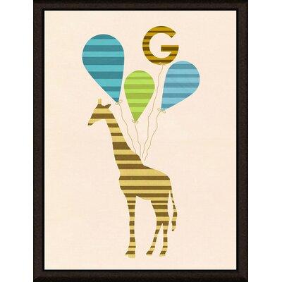 Yellow Giraffe Framed Graphic Art Size: 14