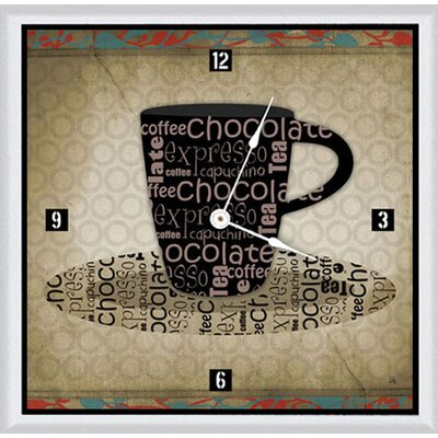 "Chocolate Cup 11"" Art Wall Clock A22-YS11212W"