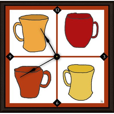 "Coffee Cups 11"" Art Wall Clock A29-YS0112W"