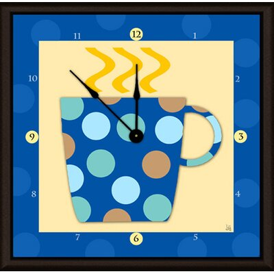 "Coffee Cups 11"" Art Wall Clock A29-YS0512W"