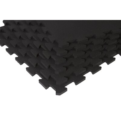 SuperLock Interlocking Floor Mat Color: Black and Blue