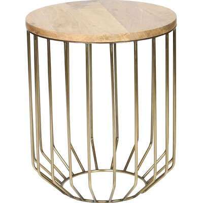 Dahms Tapered Wire End Table Color: Brass
