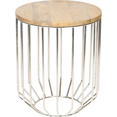 Tapered Base End Table Finish: Nickel