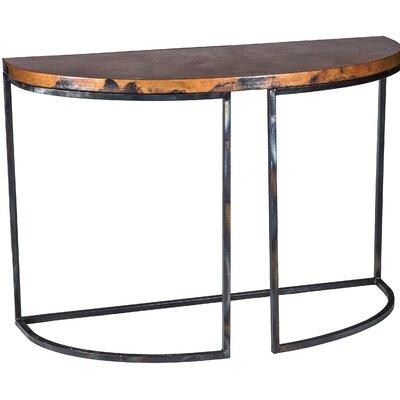 Console Table Finish: Natural Copper