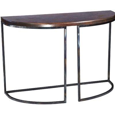 Console Table Finish: Dark Brown Copper