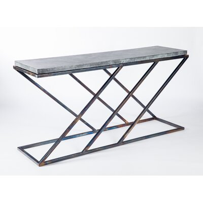 Console Table Finish: Zinc