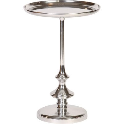 Morency Slender Cast Aluminum Tray Table with Recessed Top Color: Polished Nickel
