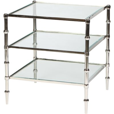 Tiered End Table Color: Nickel
