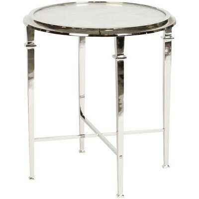 Berriman Tapered Legged Tray Table Color: Polished Nickel