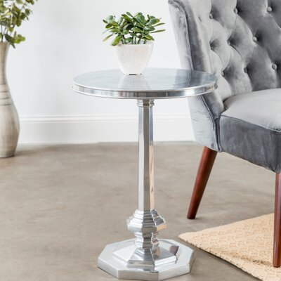Bessette Cast Aluminum End Table Color: Polished Nickel