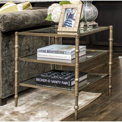 Berrier Tiered End Table Color: Antique Brass