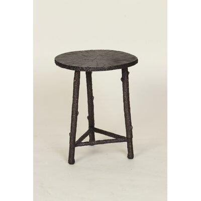 Wood Slab End Table