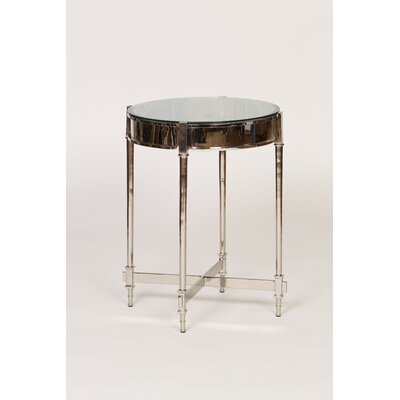 Nickel Finish End Table