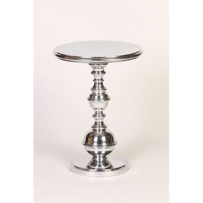 Value Round Turned Base EndTable Finish: Light