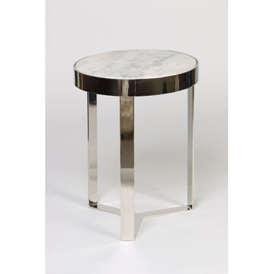 Contemporary End Table Finish: White