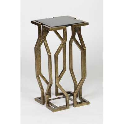 Geometric End Table Finish: Brass
