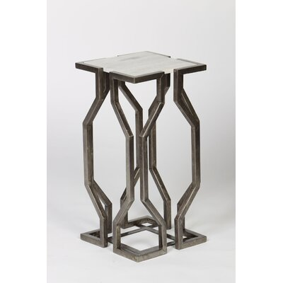 Geometric End Table Finish: Pewter