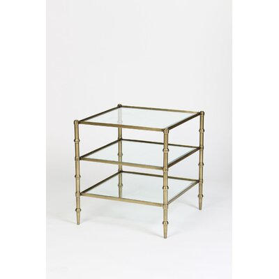 Tiered End Table Color: Antique Brass
