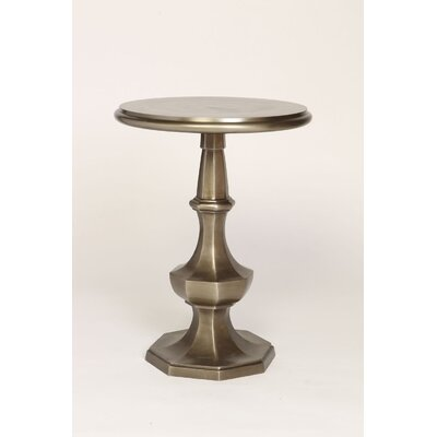 Eight-Sided End Table Color: Pewter
