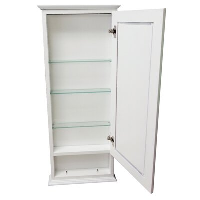Drexel Series 15.25 x 31.5 Surface Mount Medicine Cabinet Size: 6.25