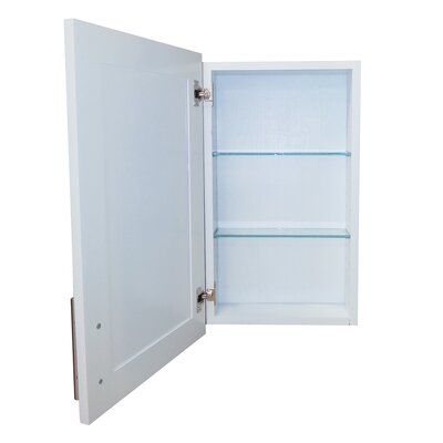 Cumberland 15.5 x 25.5 Recessed Medicine Cabinet Depth: 3.5, Finish: White Enamel