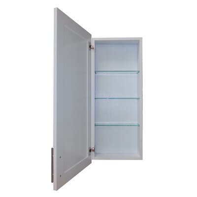 Cumberland 15.5 x 35.5 Recessed Medicine Cabinet Depth: 3.5, Finish: White Enamel
