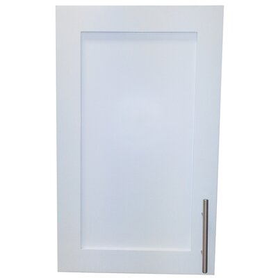 Cumberland 15.5 x 23.5 Surface Mount Medicine Cabinet Finish: White Enamel