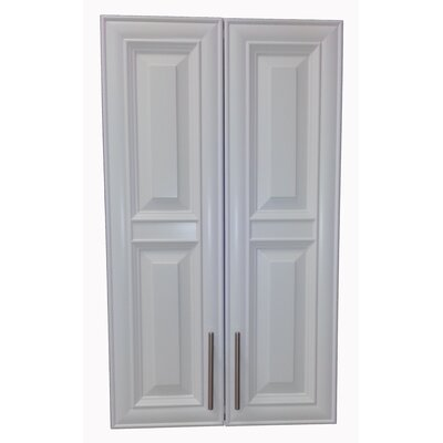Overton 21 x 38 Recessed Medicine Cabinet Finish: White, Handle Orientation: Center