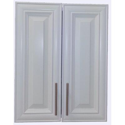 Overton 21 x 32 Recessed Medicine Cabinet Finish: White