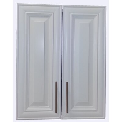 Overton 21 x 21 Recessed Medicine Cabinet Finish: White
