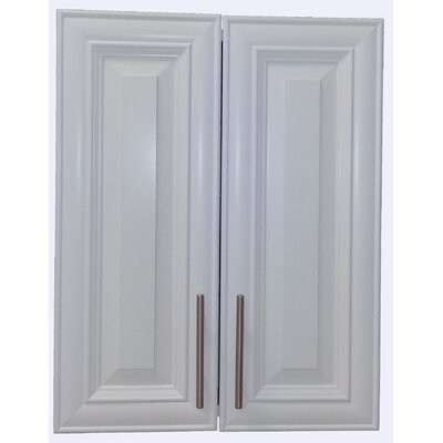 Overton 21 x 34 Recessed Medicine Cabinet Finish: White