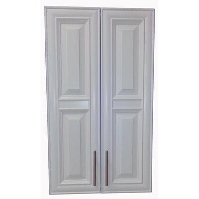 Overton 21 x 42 Recessed Medicine Cabinet Finish: White, Handle Orientation: Bottom