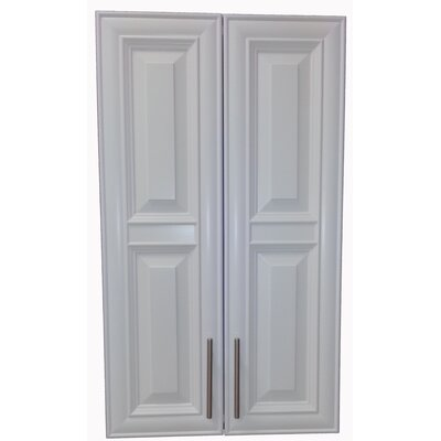 Overton 21 x 40 Recessed Medicine Cabinet Finish: White, Handle Orientation: Bottom