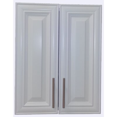 Overton 21 x 27 Recessed Medicine Cabinet Finish: White