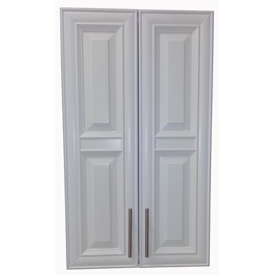 Overton 21 x 49 Recessed Medicine Cabinet Finish: White, Handle Orientation: Bottom