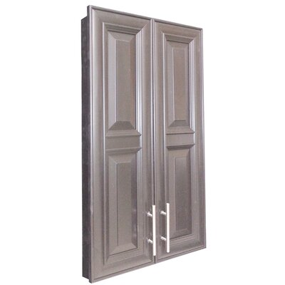 Overton 21 x 42 Recessed Medicine Cabinet Finish: Black, Handle Orientation: Bottom