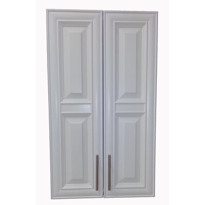 Overton 21 x 49 Recessed Medicine Cabinet Finish: White