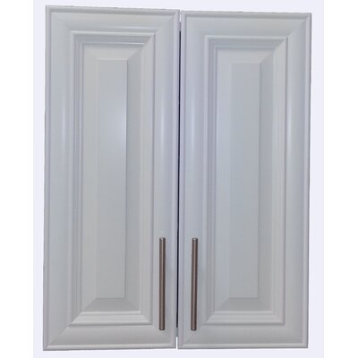 Overton 21 x 29 Recessed Medicine Cabinet Finish: White