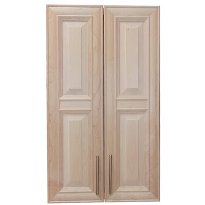 Overton 21 x 37 Recessed Medicine Cabinet Finish: Unfinished, Handle Orientation: Center