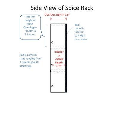 Pantry Door Mounted Spice Racks