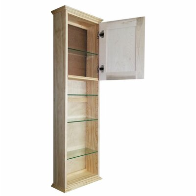 Shaker Series 15.25 x 49.5 Surface Mount Medicine Cabinet Size: 49.5 H x 15.25 W x 4.25 D